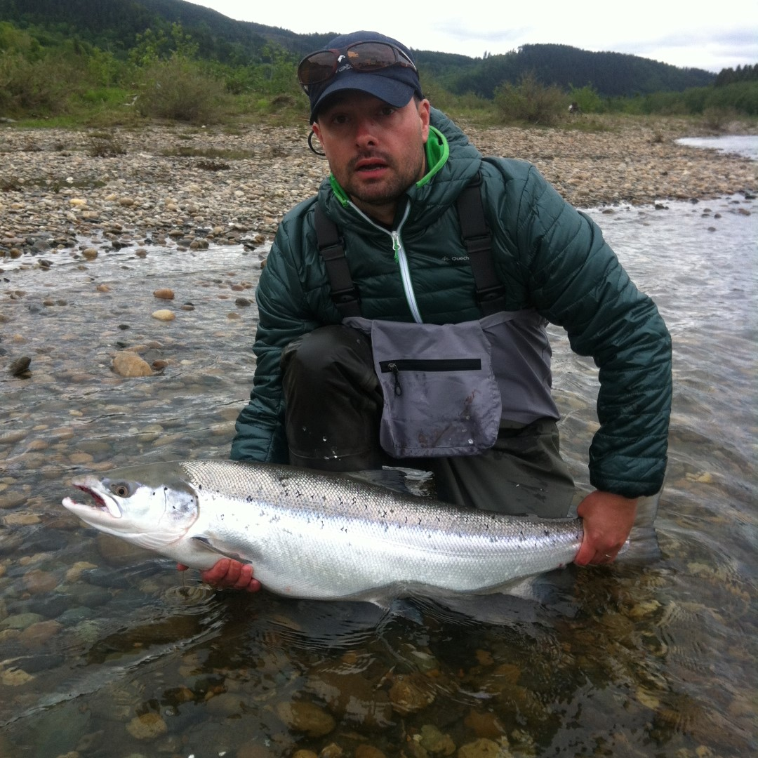 Cyrille Borro with his big salmon from Beat E7.