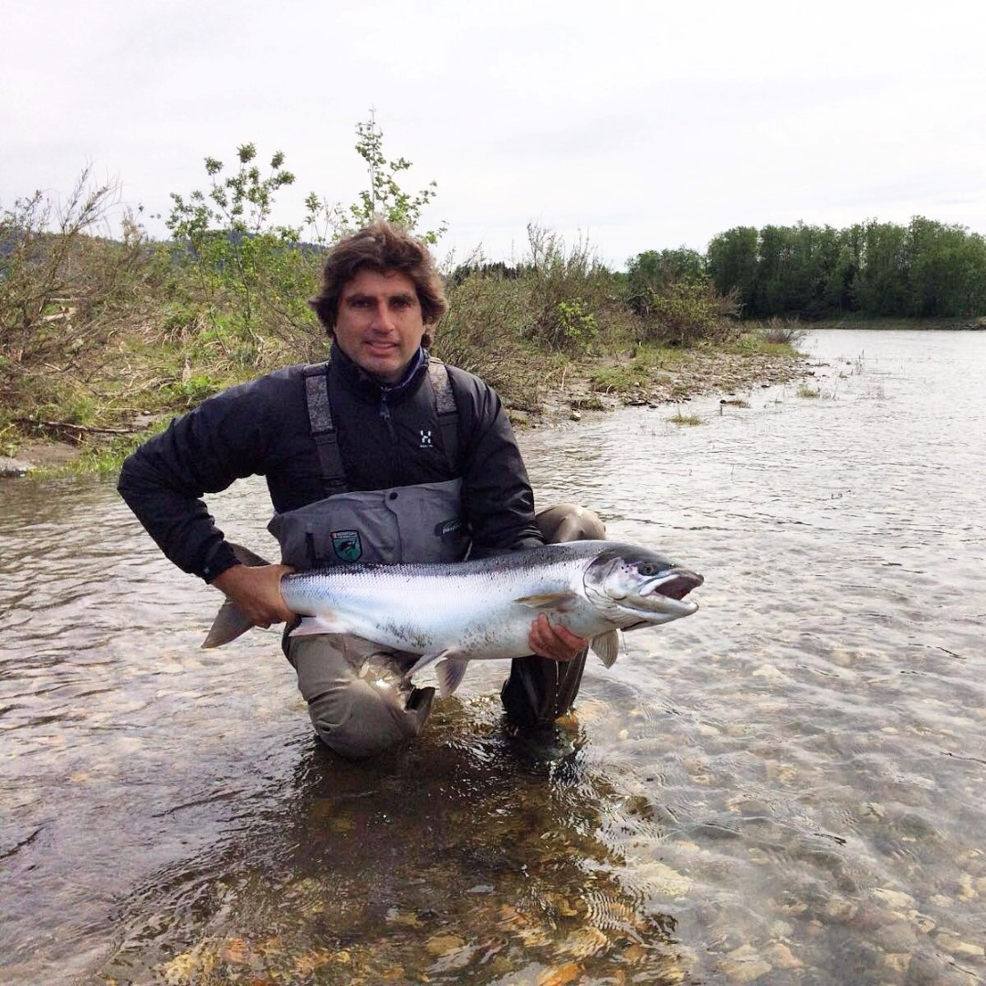Lorenzo Nencini with his superb salmon from our new beat E7