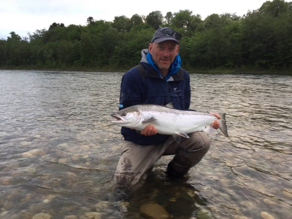 Tom Lillevik and his nice salmon from Beat E2.
