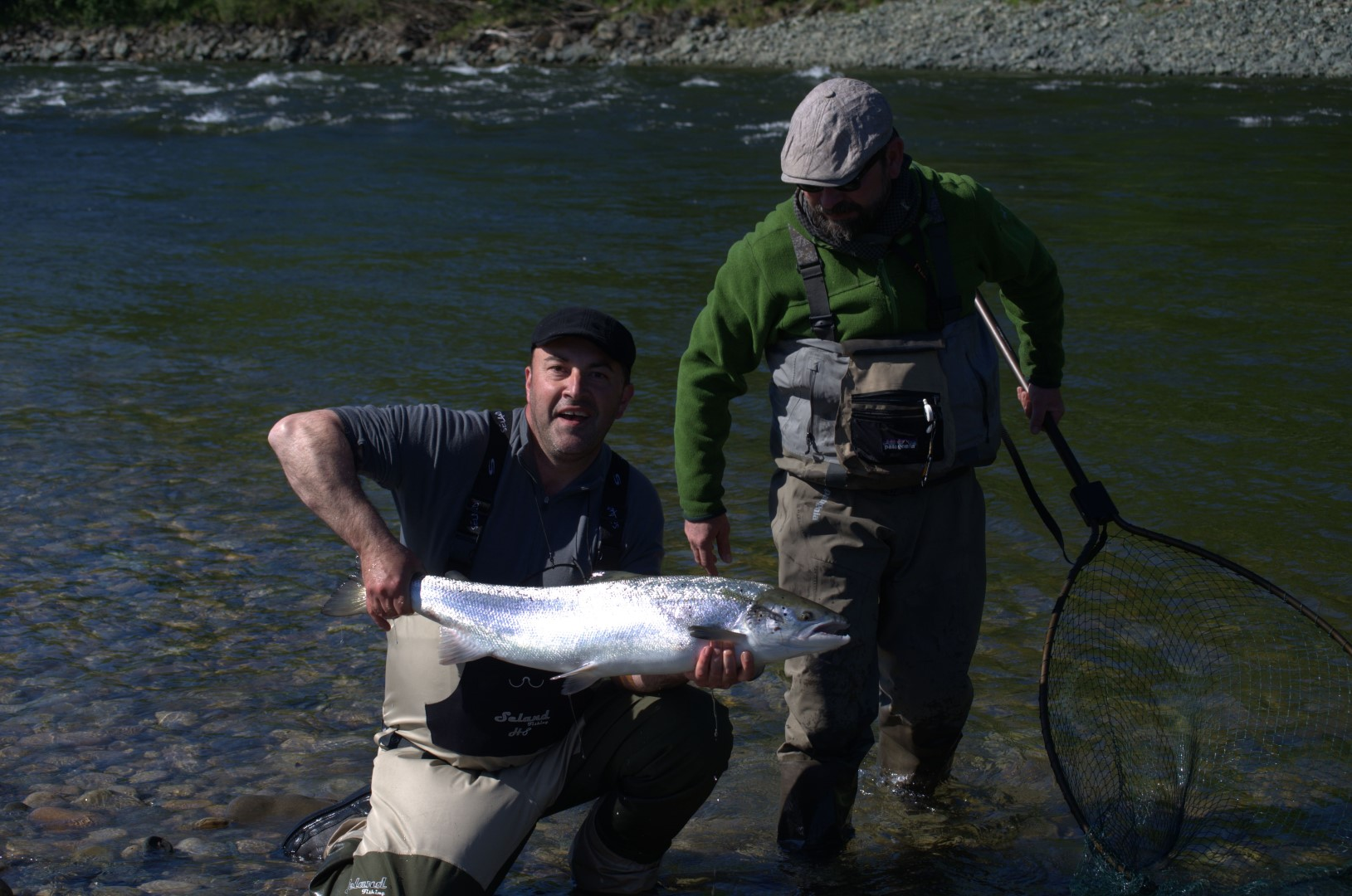 Yann Russon and his nice fish from the lower Gaula
