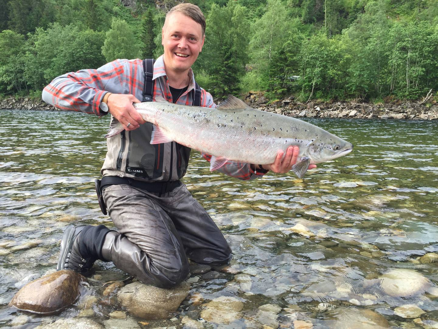 Jostein with his nice salmon from Beat B1.