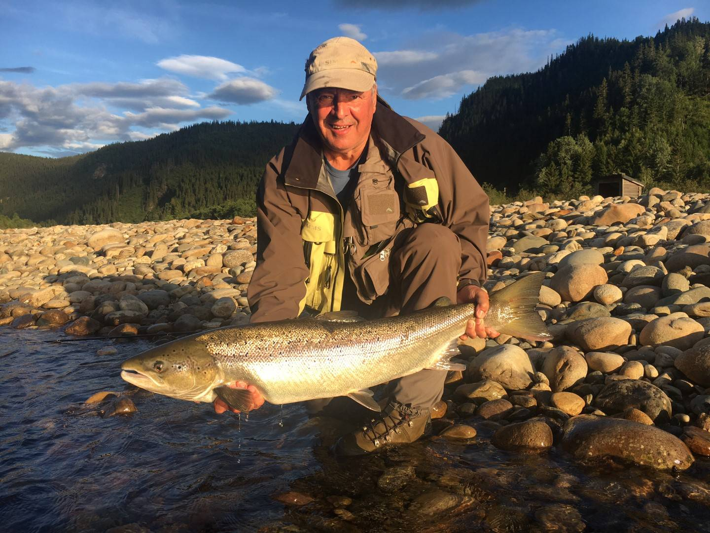 Jean-Marie with his nice salmon from Beat C2
