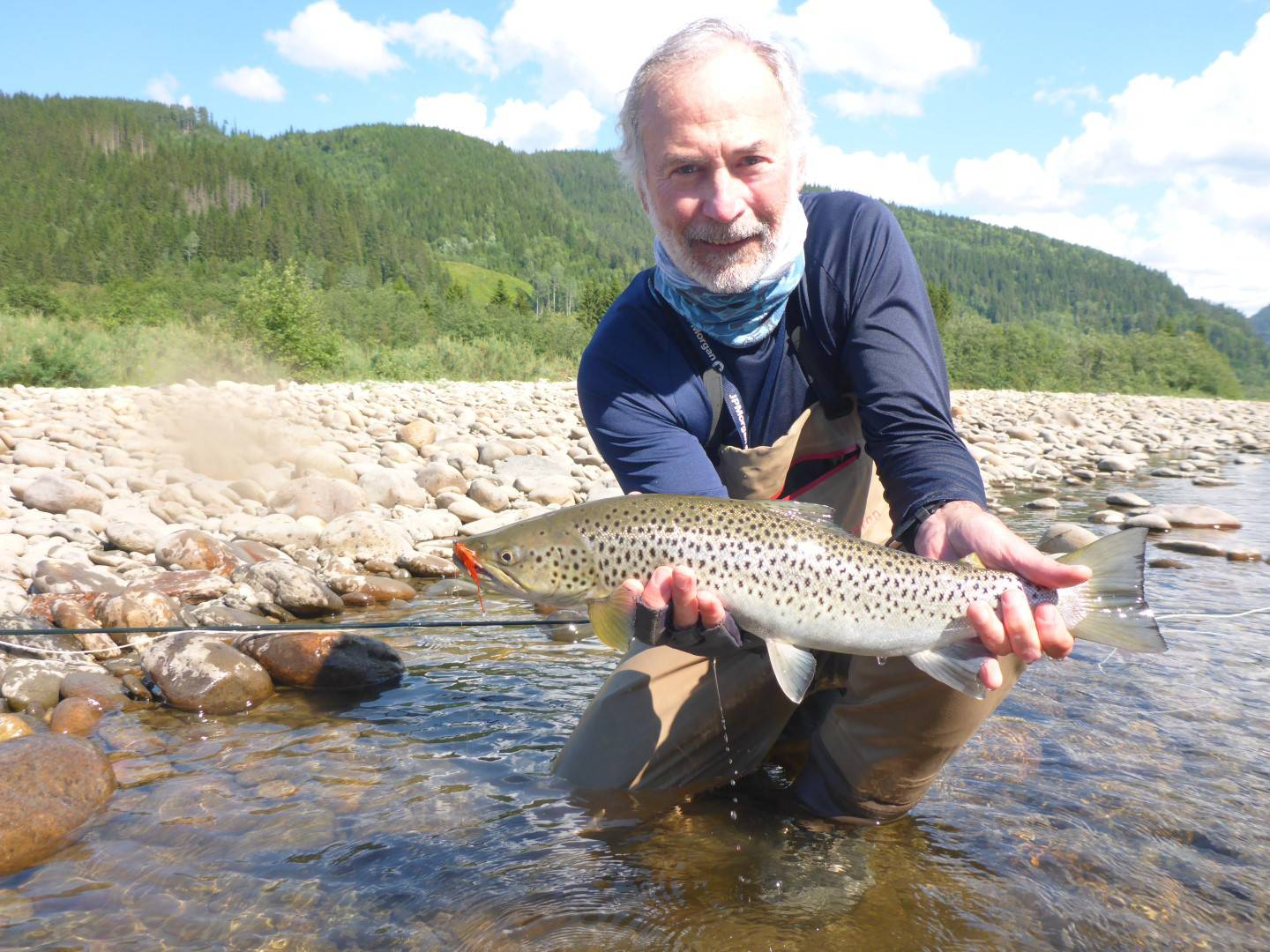 Gene with his seatrout from Beat A1.