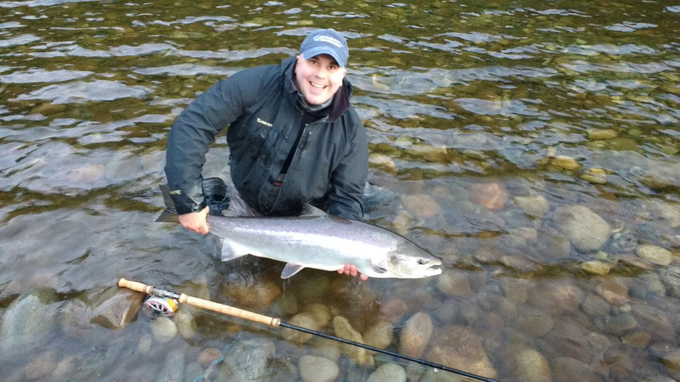 Andre Scholz with his salmon from Beat B1.