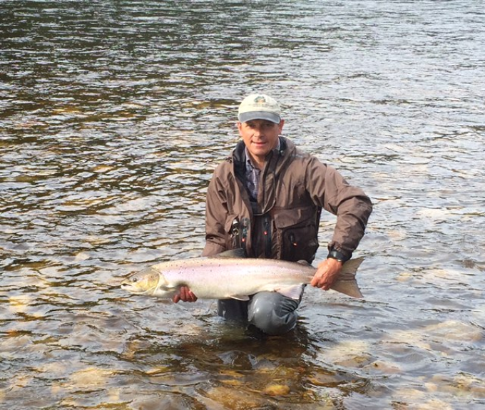 Günther with his great fish from Beat G1.