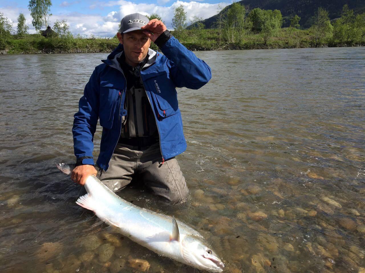 Manuel Plösser with Salmon Nr. 1