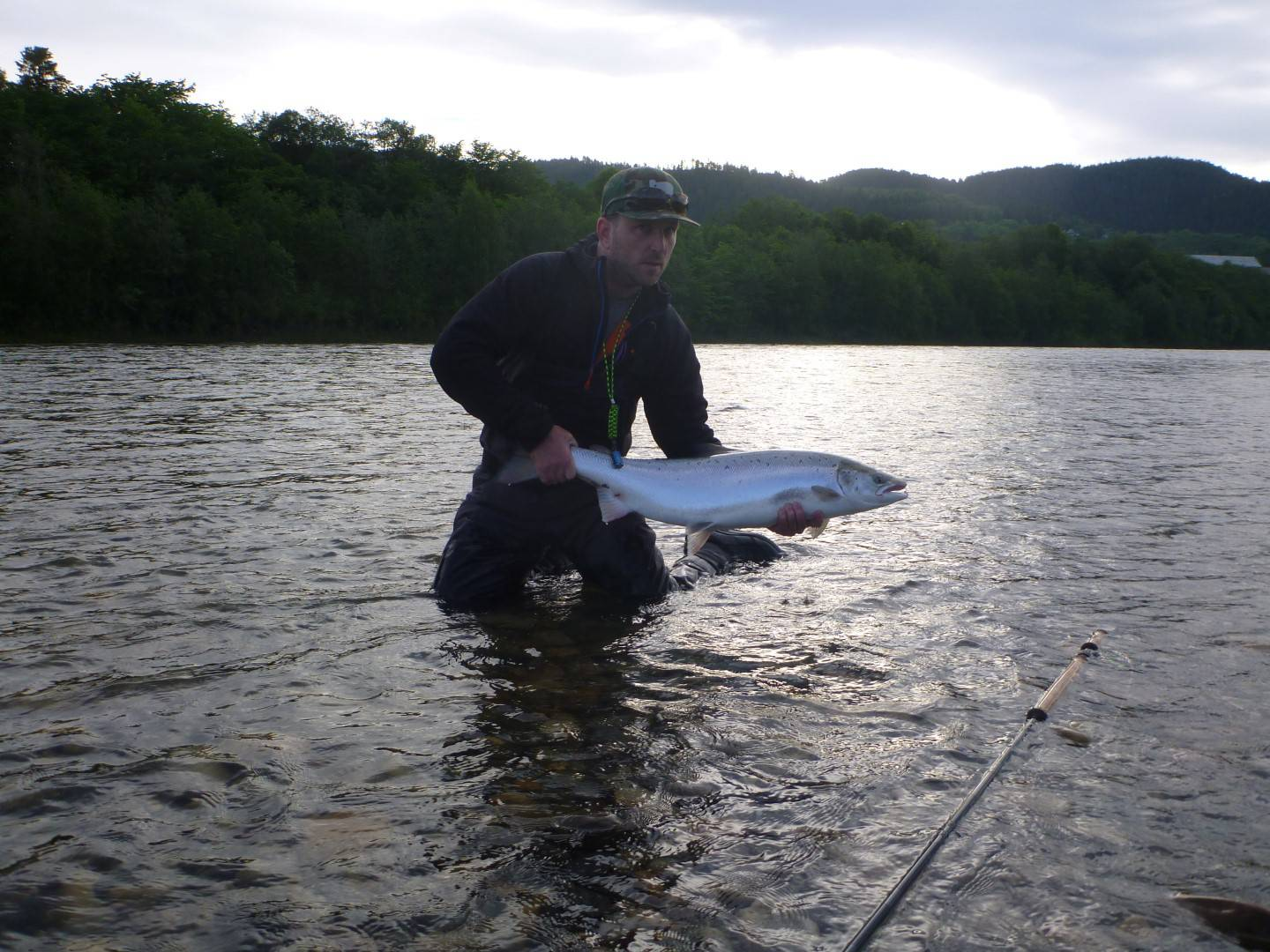 Peter Gadd with his Gaula salmon of about 9kg.