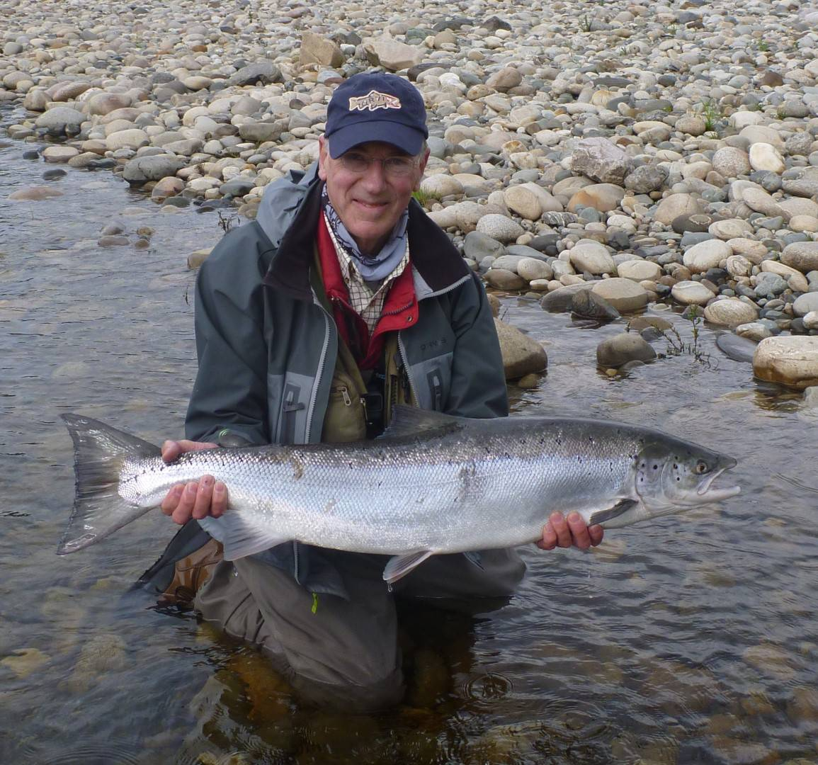 Manfred Raguse with his salmon from Beat A1