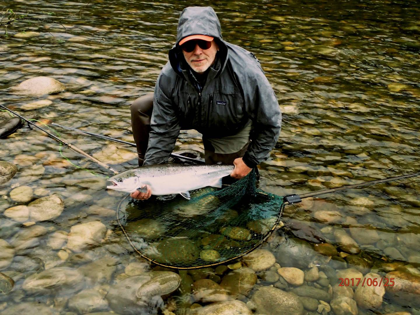 Marc Fitzsimmons with his first Gaula salmon.