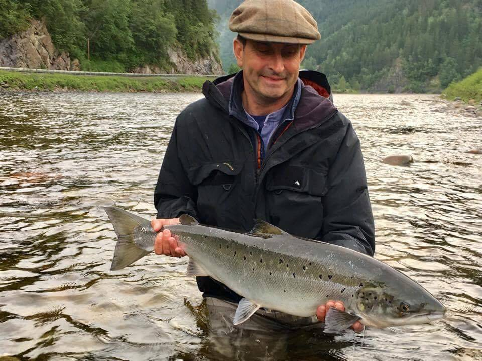 Bruce with his salmon from Beat BS1.