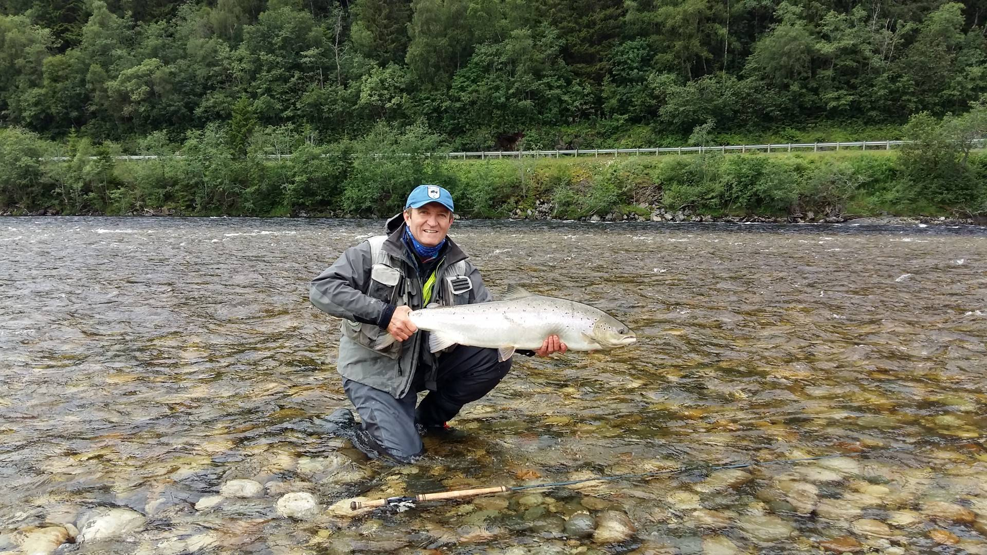 Francois Deloup with his beautiful salmon from Beat A1