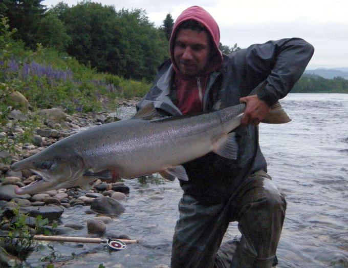 Daniel and his big birthday-fish