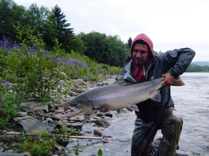 Daniel and NFC's biggest salmon of the 2015 season