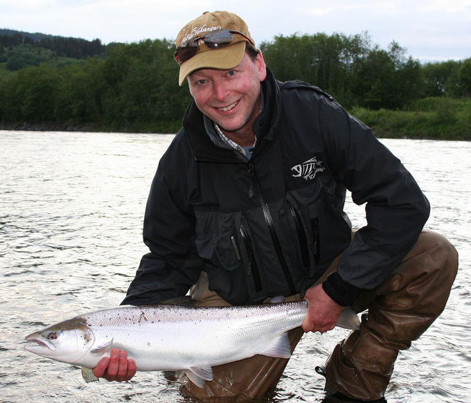 What a beautiful silver fish and clearly to see a very happy Angler!