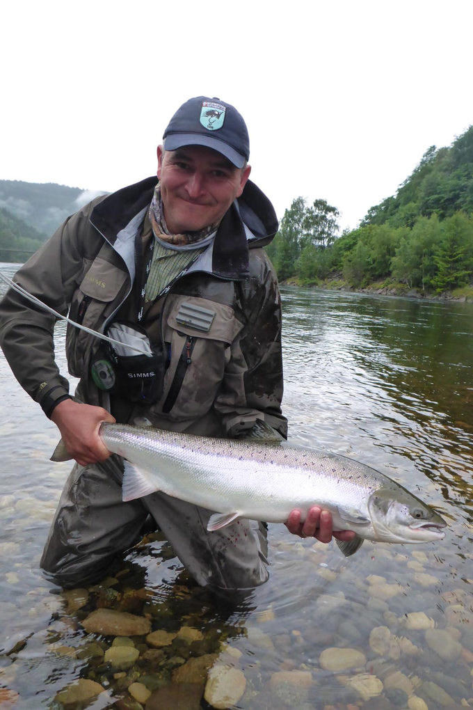 Kirk Lyon with his salmon
