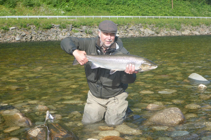 Bernd and his 5,5kg salmon from Beat BS1.