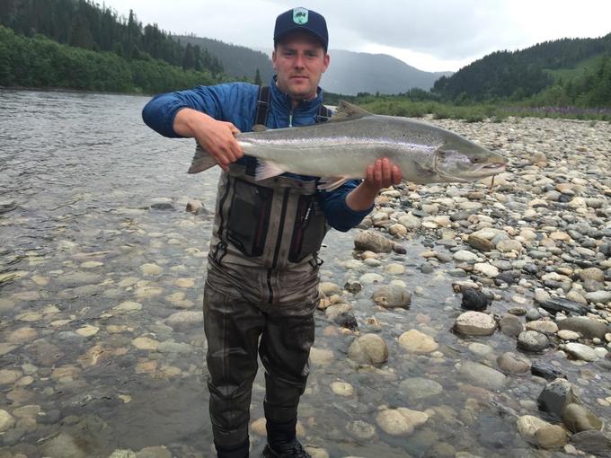 David with his next fish
