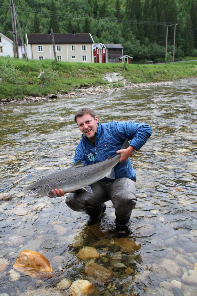 David with his superb salmon from BS2