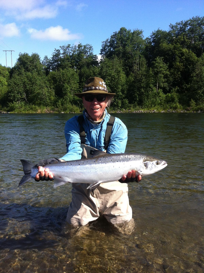 Bill and his first Gaula salmon from Beat E2.