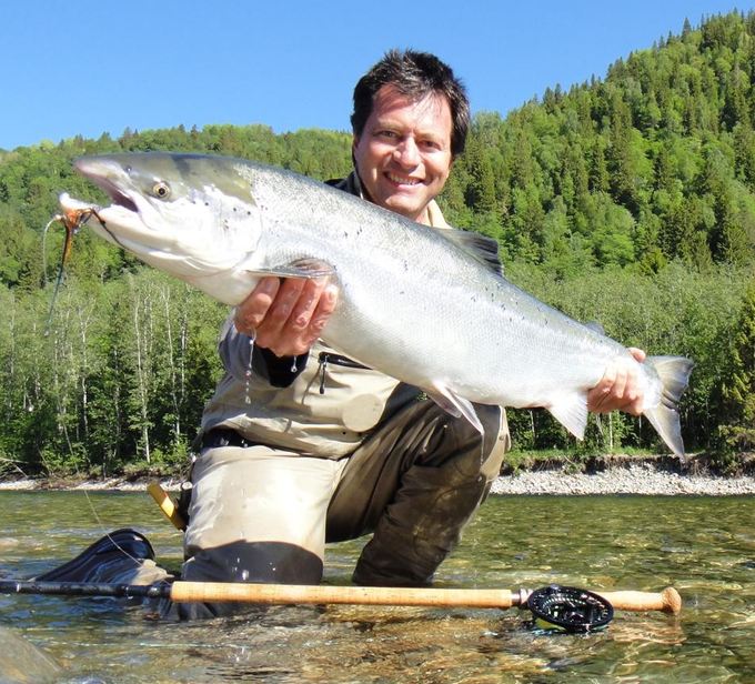 Olivier with a nice salmon